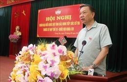 Bộ trưởng Bộ Công an Tô Lâm tiếp xúc cử tri tại thị xã Từ Sơn, Bắc Ninh