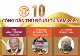 10 gương mặt 'Công dân Thủ đô ưu tú' năm 2020