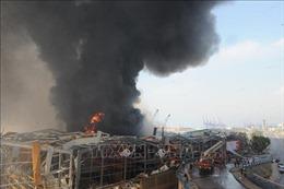 Cháy nổ bể chứa nhiên liệu tại Beirut gây thương vong