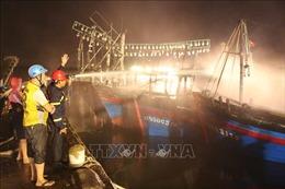 Cháy tàu cá liên hoàn ở Nghệ An là do chập điện