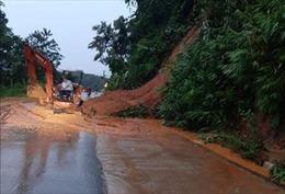 Tuyến đường nối Bình Phước - Lâm Đồng ách tắc do sạt lở đã lưu thông trở lại