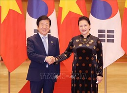 Chủ tịch Quốc hội Nguyễn Thị Kim Ngân đón, hội đàm với Chủ tịch Quốc hội Hàn Quốc