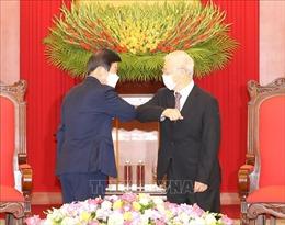Tổng Bí thư, Chủ tịch nước Nguyễn Phú Trọng tiếp Chủ tịch Quốc hội Hàn Quốc
