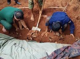 Tìm thấy thêm 7 hài cốt liệt sỹ tại xã biên giới giáp Campuchia