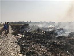 Đốt rác bừa bãi gây ô nhiễm môi trường tại Hải Dương
