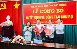 Công bố Quyết định của Thủ tướng Chính phủ về công tác cán bộ tại Sóc Trăng