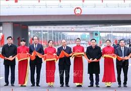 Thủ tướng dự khánh thành nút giao đường vành đai 3 với cao tốc Hà Nội - Hải Phòng