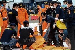 Đưa các phần thi thể nạn nhân và mảnh vỡ máy bay về cảng quốc tế Jakarta