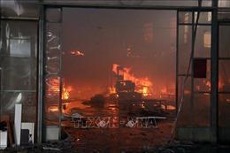 Cháy lớn thiêu rụi nhà xưởng giữa khu dân cư ở Hải Phòng