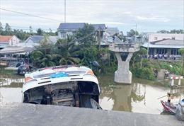 Khắc phục xong sự cố sập cầu Thiên Hộ ở Tiền Giang