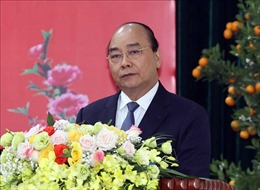 Thủ tướng Nguyễn Xuân Phúc thăm, chúc Tết các đơn vị Công an nhân dân