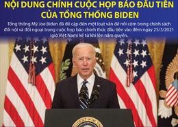 Nội dung chính cuộc họp báo đầu tiên của Tổng thống Biden