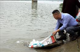 Thả con giống thủy sản ra vùng nước tự nhiên