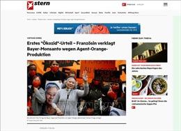 Truyền thông Đức đưa tin về vụ kiện lịch sử của bà Trần Tố Nga