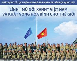 Lính 'mũ nồi xanh'Việt Nam và khát vọng hòa bình cho thế giới