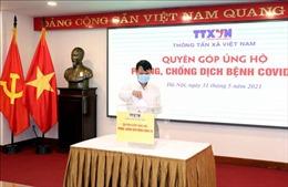 Cán bộ, nhân viên TTXVN chung tay ủng hộ phòng, chống dịch COVID-19