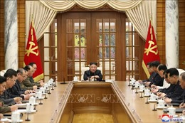Nhà lãnh đạo Kim Jong-un chủ trì cuộc họp Bộ Chính trị Ban Chấp hành trung ương Đảng Lao động Triều Tiên