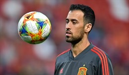 EURO 2020: Mắc COVID-19, thủ quân Sergio Busquets rời đội tuyển Tây Ban Nha