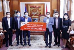 Liên doanh Lào - Việt chung tay ủng hộ quỹ vaccine phòng COVID-19 của Việt Nam