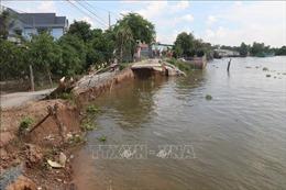 Sạt lở nhiều nơi tại huyện Châu Thành, tỉnh Hậu Giang