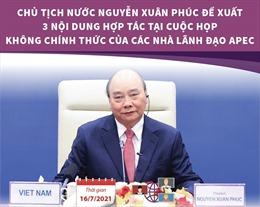 Chủ tịch nước Nguyễn Xuân Phúc đề xuất 3 nội dung hợp tác tại Cuộc họp APEC