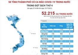 58 tỉnh/thành phố có ca mắc COVID-19 trong nước trong đợt dịch thứ 4