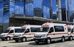 THACO tặng TP Hồ Chí Minh 30 xe cứu thương và 25 xe tiêm vaccine lưu động