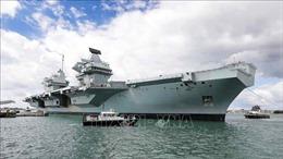 Tàu sân bay HMS Queen Elizabeth của Anh tham gia diễn tập với Hải quân Hàn Quốc