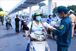 Hà Nội: Sáng 7/9, chốt kiểm dịch trên đường Cầu Diễn đã thông thoáng