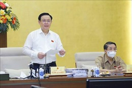 Chủ tịch Quốc hội Vương Đình Huệ làm việc với Ủy ban Kinh tế về Quy hoạch sử dụng đất quốc gia