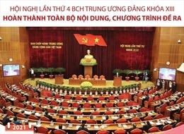 Hội nghị Trung ương 4 khóa XIII hoàn thành toàn bộ nội dung, chương trình đề ra