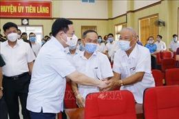 Chủ tịch Quốc hội Vương Đình Huệ tiếp xúc cử tri huyện Tiên Lãng, Hải Phòng