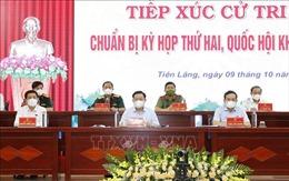 Chủ tịch Quốc hội Vương Đình Huệ tiếp xúc cử tri huyện Tiên Lãng (Hải Phòng)