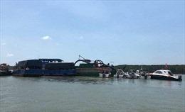 Chìm tàu hút trên sông Gò Gia, 1 người mất tích, 3 người được cứu sống