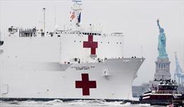 Siêu tàu bệnh viện Mỹ 'ế'  90% công suất giường khi ứng cứu tại New York
