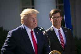 Ông Trump sắp loại Bộ trưởng Quốc phòng Mark Esper