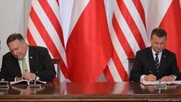 Ngoại trưởng Mỹ ký thỏa thuận di chuyển quân từ Đức sang Ba Lan