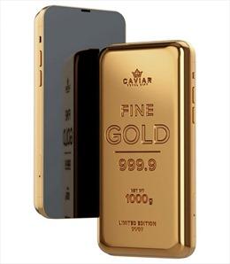 Mở bán điện thoại iPhone 12 Pro bằng vàng khối 24K nặng 1kg, giá 3,7 tỉ đồng