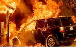 Chùm ảnh cháy rừng gây sốc ở California khi nắng nóng càn quét bờ Tây nước Mỹ