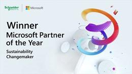 Schneider Electric được Microsoft vinh danh là Đối tác Kiến tạo thay đổi bền vững 2021