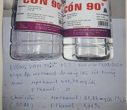 Nguy cơ mua phải cồn sát trùng 'rởm' trong mùa dịch COVID-19