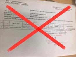 Bộ Y tế khẳng định: Thông tin về ca dương tính ở Đà Nẵng là tin giả