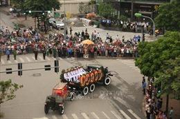 Linh cữu Chủ tịch nước Trần Đại Quang đi qua nhà riêng