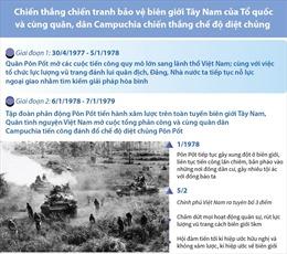 Chiến thắng chiến tranh biên giới Tây Nam, cùng Campuchia đánh đổ chế độ diệt chủng