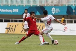 Những pha bóng gay cấn trong trận đấu giữa Olympic Việt Nam và Olympic UAE