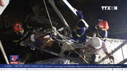 Công nhân bị rơi xuống tầng hầm khi thi công công trình