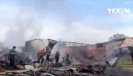 Khánh Hòa: Cháy lớn tại một kho chứa mút xốp