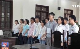 Y án đối với 15 bị cáo gây rối trật tự công cộng tại Đồng Nai
