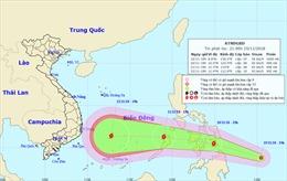 Áp thấp nhiệt đới gần Biển Đông, có khả năng mạnh lên thành bão