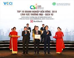 SeABank lọt Top 10 Doanh nghiệp bền vững